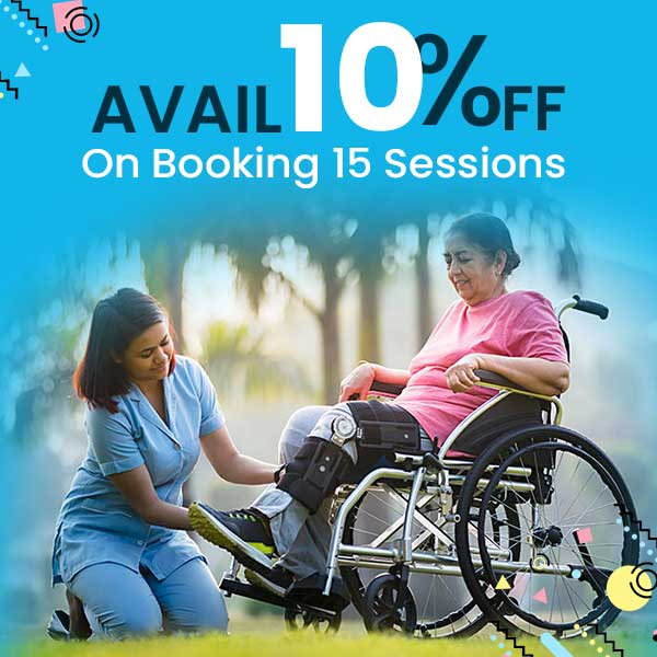avail 10 percent off on booking 15 sessions - wecare therapists
