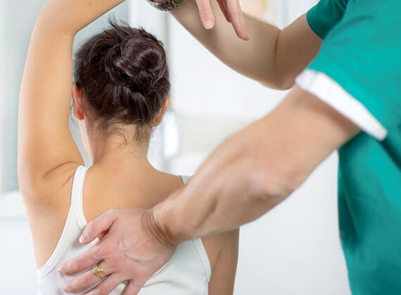 Physiotherapy treatment for shoulder pain or frozen shoulder